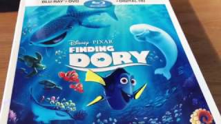FINDING DORY Blu-Ray Unboxing.