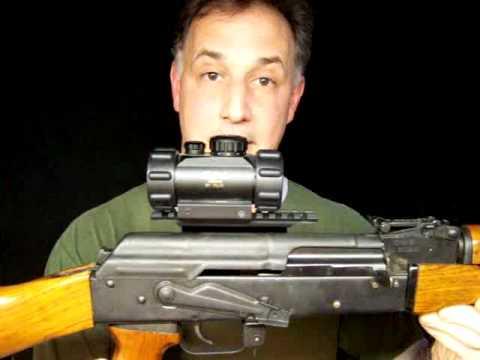 UTG AK-47  Mount & M30 Leatherwood / Hi-Lux Red Dot Sight