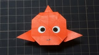【ツムツム折り紙】ニモの作り方 How to make Origami Disney Finding Nemo Dory