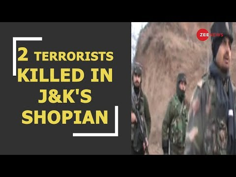 Breaking News: 2 terrorists have been gunned down by security forces in J&K's Shopian