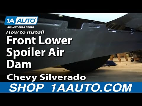 How To Install Replace Front Lower Spoiler Air Dam 2007-13 Chevy Silverado GMC Sierra