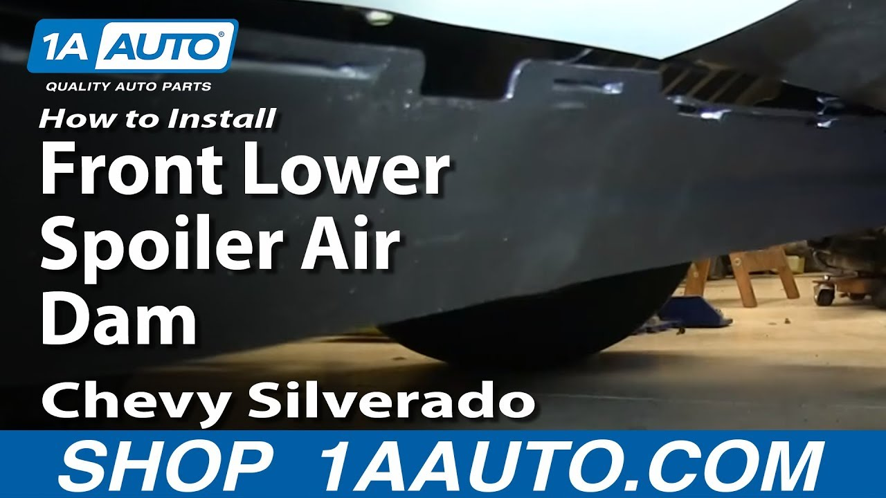 How To Install Replace Front Lower Spoiler Air Dam 2007-13 Chevy