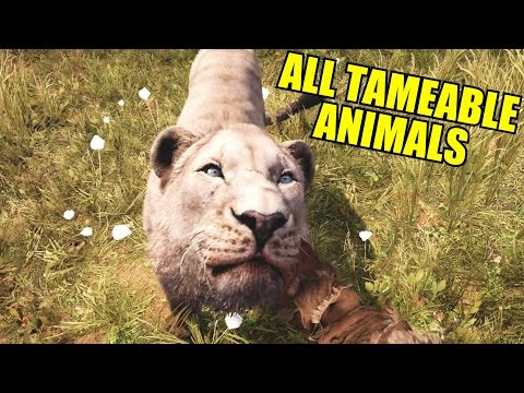Far Cry Primal Feeding / Petting All Tameable Animals