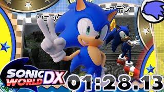 Sonic World DX - Kingdom Valley Speedrun: 1:28.13 (Anniversary Demo) [4K 60FPS]