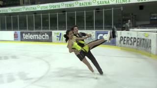 ISU 2014 Jr Grand Prix Ljubljana Short Dance Christine SMITH / Simon EISENBAUER AUT