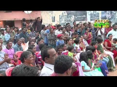 Sanju V Samson gets warm welcome in Vizhinjam