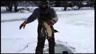 Shocking ice fishing video from Pennsylvania!