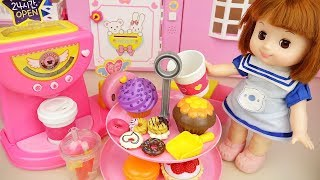 Baby doll and cup cake and drinks toys baby Doli play