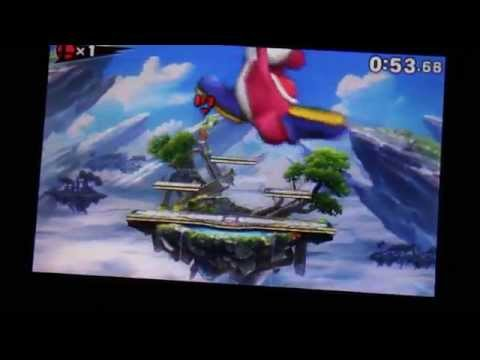 Super Smash Bros. for 3DS giant-Yoshi glitch (North American version)