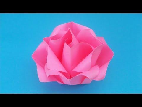 Как сделать быстро цветок из бумаги