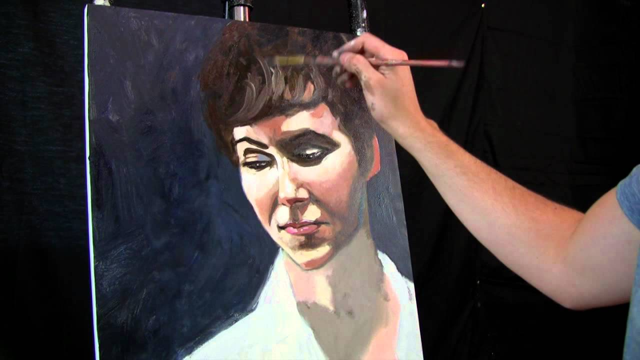 Portrait Painting In Oil Youtube