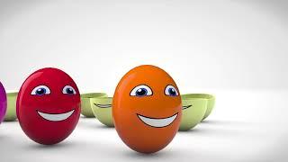 Learn Color Elephant Animal W Surprise Eggs Fruit Cartoon Nursery Rhymes for Children