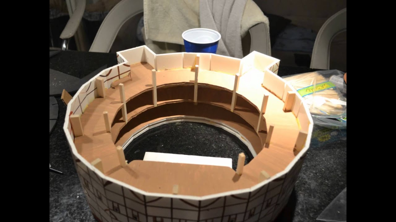 The globe theater model youtube for Theatre model