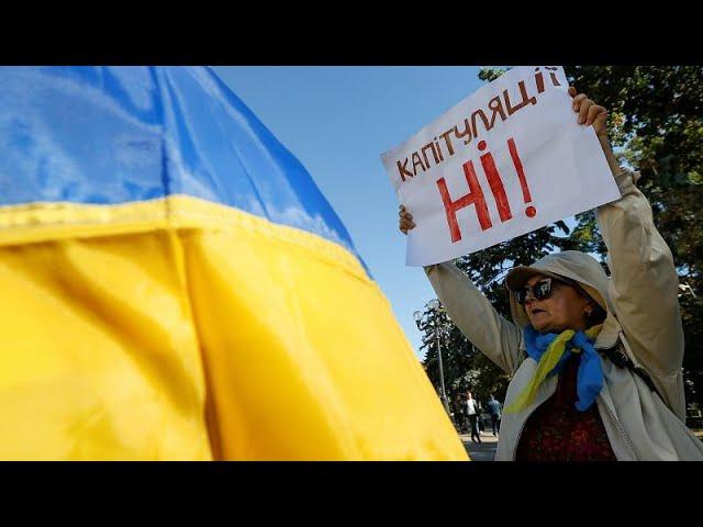 Ukrainer protestieren gegen quotSteinmeier-Formelquot