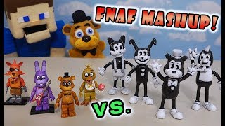 Five Nights at Freddy's Mashup Bendy and the Ink Machine Bootleg Action Figure FNAFs