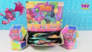 Trolls Hair Huggers Series 1 10 Blind Bag Figures Toy Unboxing | PSToyReviews