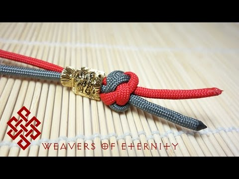 How to Tie a Paracord Lanyard Knot / Two Strand Diamond Knot Tutorial - EASY METHOD