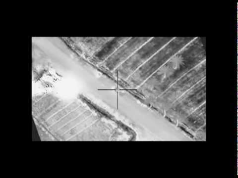 Coalition airstrike against Da'ish compound and technical near Fallujah, Iraq, March 8, 2015