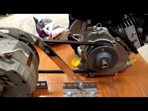 DIY 12V Generator Charger - 6 Assembly and First Test of a Belt Drive System