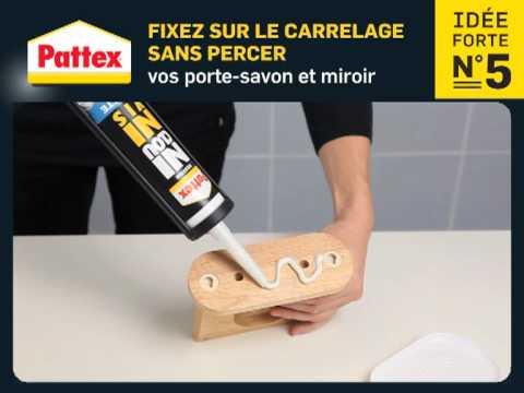 Fixez sur le carrelage sans percer vos porte savon et for Percer le carrelage