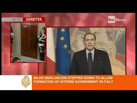 Silvio Berlusconi's video address after resignation