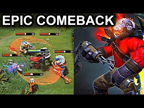 EPIC COMEBACK AXE PATCH 7.08 DOTA 2 NEW META GAMEPLAY #18 (MAELSTROM AXE)