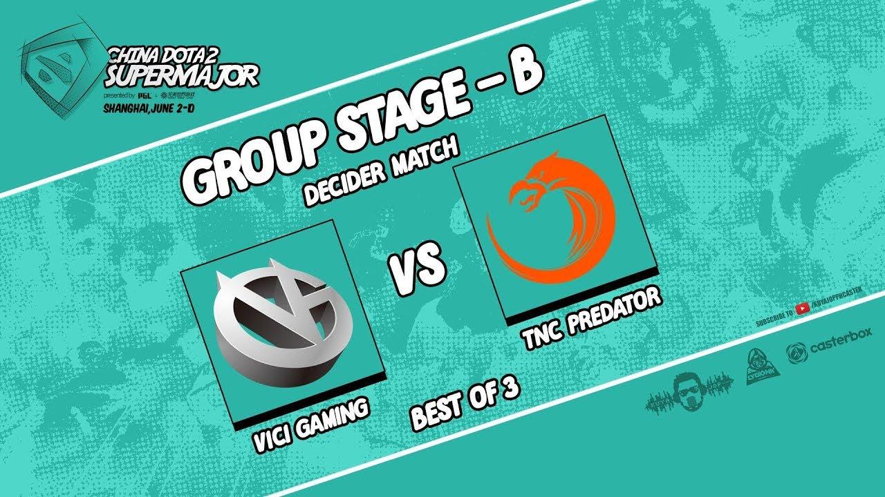 [DOTA 2 LIVE] TNC PREDATOR VS VICI GAMING |Bo3| China Dota2 Supermajor GROUP STAGE DAY 1