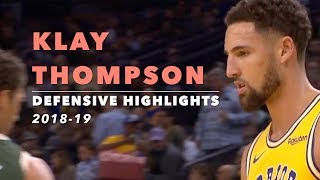 Klay Thompson Defensive Highlights | 2018-19 | Golden State Warriors