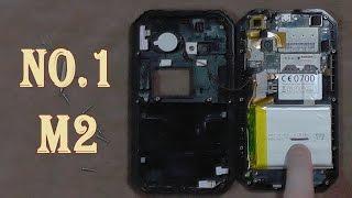 Разбираем смартфон NO.1 M2  вся правда про водозащиту и аккумулятор