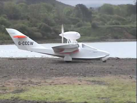 Seaplane taking off from Ravenglass