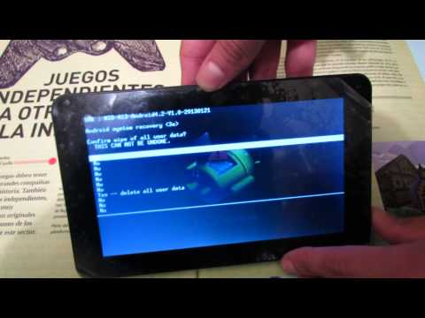 Tutorial Hard- Reset Tablet Android. Resetear/Formatear tablet