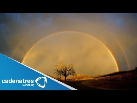 Impresionantes imágenes de doble arcoiris en Estados Unidos