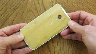 Moto X Wood Back Review!