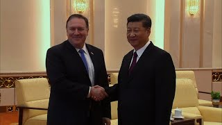 Pompeo Meets Chinese President Xi In Beijing
