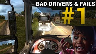 Euro Truck Simulator 2 (TruckersMP) - Crashes and Fails #1
