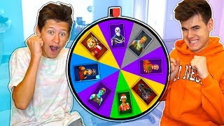 MYSTERY SPIN WHEEL of RARE SKINS Challenge in Fortnite Battle Royale!