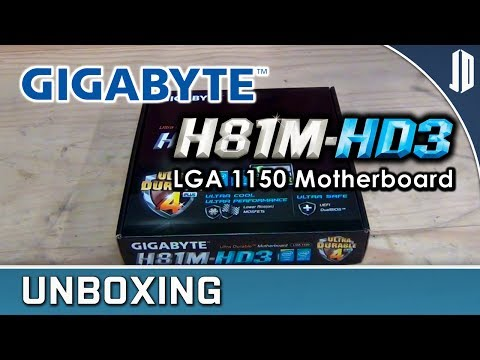 Gigabyte H81M-HD3 Socket 1150 Motherboard Unboxing