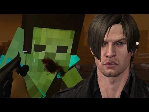 Leon Kennedy vs. Minecraft Zombies - Left 4 Dead 2 Mods