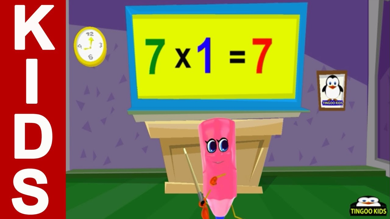 Homeschool tutorial 7 times table song kids math for 12 times table song youtube