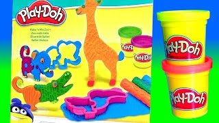 Play Doh Safari Maluco - Play Doh Safári Divertido Make