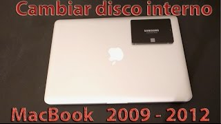 Como cambiar disco interno MacBook