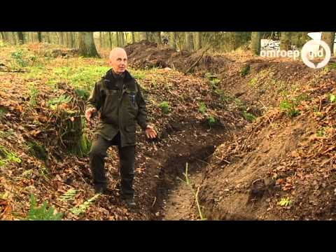 Duitse loopgraaf WOI zichtbaar in Beek