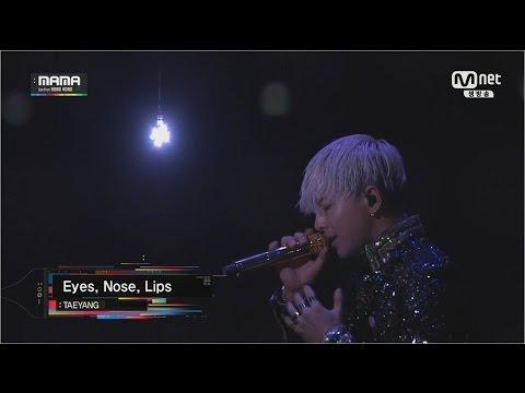 Taeyang - '눈,코,입(eyes,nose,lips)' In Mama 2014 video