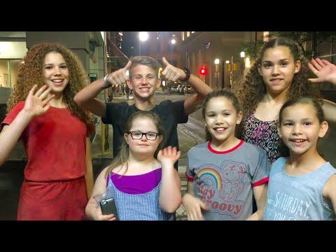 Chopstick Challenge!  (MattyBRaps, Haschak Sisters & Sarah Grace)