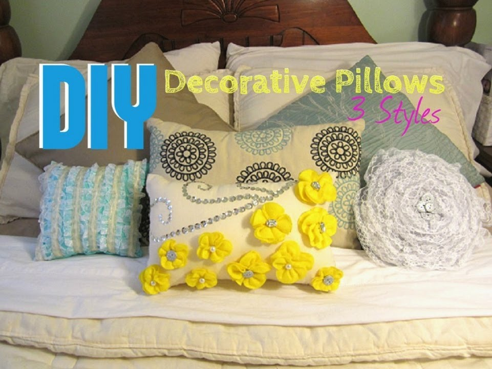 Diy Round Throw Pillows : DIY: Decorative Pillows- 3 Styles - YouTube