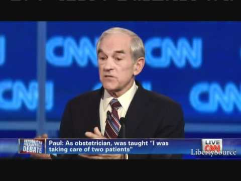 Ron Paul embarrasses Rick Santorum CNN SC Republican Debate 1/19/12