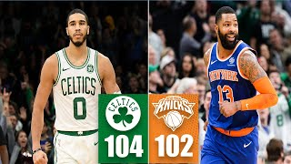 Jayson Tatum comes up clutch in New York Knicks vs. Boston Celtics | 2019-20 NBA Highlights