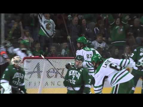North Dakota Hockey vs. Bemidji State Post Game Wrap 10-10-14