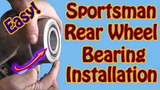 Polaris Sportsman Rear Wheel Bearing Installation - DIY ATV Rear Axle Bearing Replacement Part 2