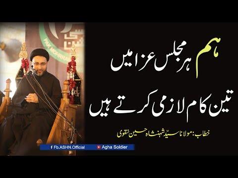 #Hum her Majlis-e-Aza me 3 Kam Lazmi karte hain by Allama Shahenshah Hussain Naqvi